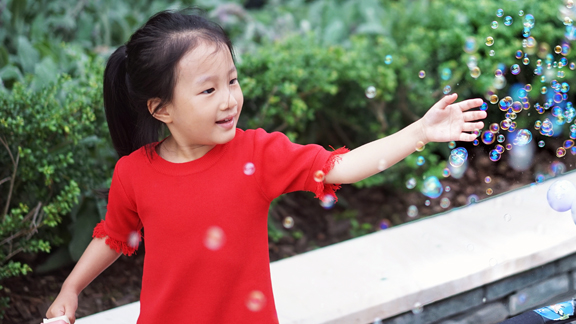 bubbles girl red shirt for web