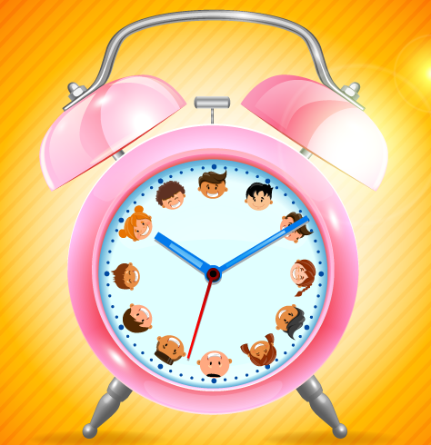 children clock